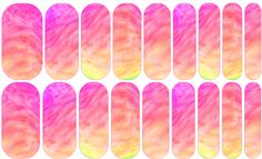 Watercolor Mosaic 2 Jamberry Nail Art Studio: A dreamy color combination of pinks, peaches and a peek of yellow.