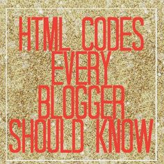 Basic HTML Codes Every Blogger Should Know - Unpredictable & Chic Repinned by Bethany at Sunrise Digital Marketing. www.sunrisedigitalmarketing.com Let Sunrise Digital Marketing create a web presence that reflects your business. With experience in creating websites that are appealing to visitors and search engines, we can bring your business online in style.