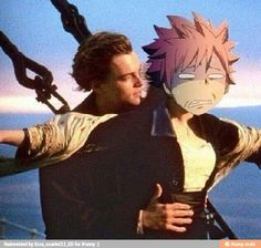 HAHAHA ... I think Natsu likes the motion sickness more than than that guy from Titanic XD