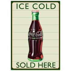 A great addition to any Coke ® lover's retro kitchen, this vintage-style Coke ® Bottle Sign Set features a die cut bottle of Coca-Cola ® that attaches with magnets to a unique Soda Fountain Shop Wall Art background sign. Wall Decor Stickers, Wall Decals, Coca Cola Merchandise, Chrome Wall Clock, Coca Cola Kitchen, Coca Cola Decor, Diner Decor, Stick Wall Art, Bottle Cutting