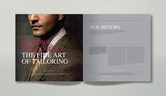 Eveleigh & Read Tailors - Corporate Brochure by Mario Antoniou, via Behance