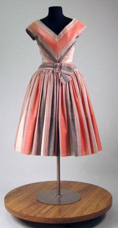 ~Day dress, Adele Simpson, 1955~