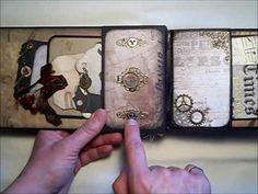 Kathy Orta Inspired Mini Album with pics Tim Holtz - YouTube