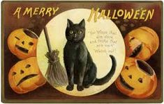 Image result for vintage halloween prints