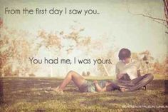 I was yours