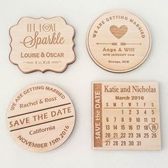 Save the date magnets now available. Personalised with your own text. $3 each. #laserdesign #lasercutting #jdslaserdesign #laserengraved #epilog #savethedate #wedding #orangensw #shoplocal #smallbusiness #shoplocal #mrandmrs #bridetobe #weddingplanning by jdslaserdesign