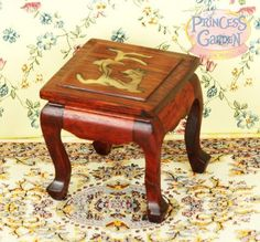 Miniatures China Side Table,gold coin shell inlaid ith Chinese traditional lucky mascot Dragon.