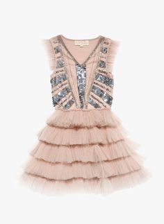 Tutu Du Dazzle Me Pretty Tutu Dress in Blush $149