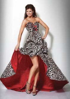 Jovani prom dress 7455 | High low skirts | Animal print dresses
