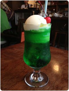 Katsurashi cafe coffee cafe residence Chitosefunabashi - melon Cream soda inspiration
