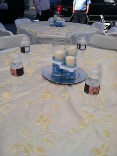Ideas de centro de mesa para bautizo