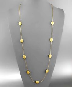 Angie Necklace - Gold beads on gold cord make the perfect layering piece!