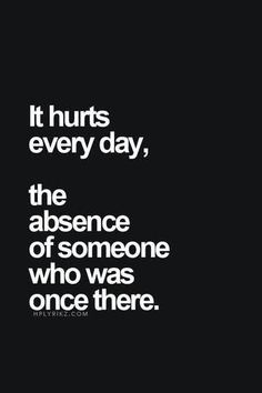 The pain doesn't leave you, but it get's less sharp over time.