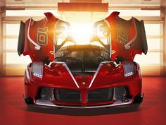 Ferrari FXX-K, red supercar wallpaper