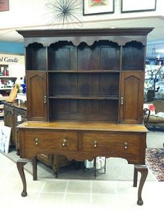 Gorgeous Antique English Mahogany Welsh Dresser, Hutch, Buffet circa 1890