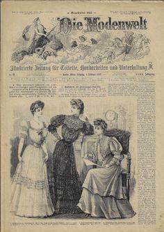 Die Modenwelt - Februar 1905 Vintage World Maps, Old Magazines, Fashion Magazines, World, Nice Asses, February