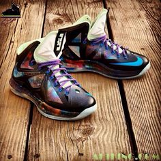 "#LeBron X Custom ""King of Galaxy"""