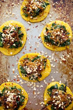 mini polenta pizzas / a house in the hills