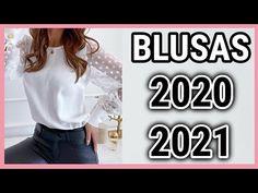 BLUSAS de MODA 2020 / 2021 / Las blusas en tendencia de moda mas bonitas y elegantes / Fashion Love - YouTube Love Fashion, Plus Size Fashion, Womens Fashion, Diy Clothes Tops, Crochet Tablecloth Pattern, Scarf Styles, Casual Outfits, Ruffle Blouse, Youtube