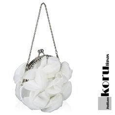 Ruusulaukku_LS034_4 Bucket Bag, Glass Beads, Ivory, Crystals, Silver, Gold, Bags, Jewelry, Handbags