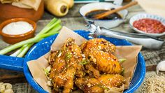 Paleo Sticky Teriyaki Chicken Wings and Parsnip French Fries! Recipe prepared by @julibauer on Home and Family!