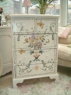 Stencils or decoupage?
