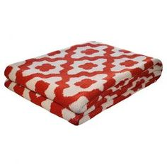 Add a pop of pattern to your sofa or bed with this eco-friendly throw. Made from recycled cotton.  Product: ThrowConstruction Material: 80% Recycled cotton and 20% acrylicColor: Paprika Features: Made in the USAEco-friendly Dimensions: 50 x 60Cleaning and Care: Machine wash and dry on low