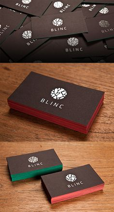 Silver Foil Edge Business Card