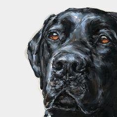 Black Labrador  Collectable Ltd Ed Fine art print  by paintmydog