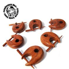 Sold in pairs Wood Plugs, Ear Gauges, Place Card Holders, Pairs, Beauty, Style, Swag, Stylus, Outfits