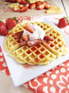 Homemade Waffles - good texture; add more sugar & vanilla.