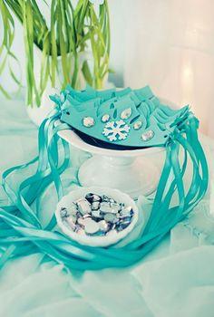 Frozen-Eiskönigin Krone basteln-Deko und Spielsachen zur Kinderparty