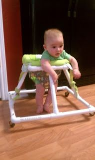 Baby Walker out of PVC Pipe. cool.