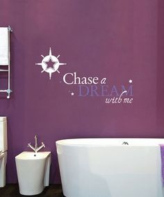 Sissy Little White 'Chase a Dream' Wall Decal Wall Decals, Vinyl Decals, Chasing Dreams, Dream Wall, Used Vinyl, Inspirational Message, Little White, Innovation Design, Never Give Up