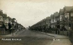 Old Postcard....Melrose Avenue. Willesden Green/Cricklewood