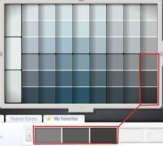Grey Blue Paint pratt and lambert colors - house paint color - chart, chip, sample
