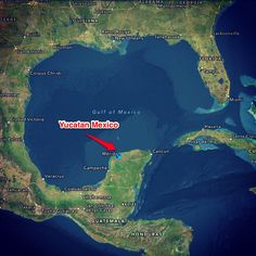 Our location on the map, Merida , Mexico , Real Estate Yucatan.