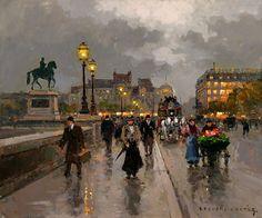 Le Pont Neuf à Paris par Edouard Léon Cortès