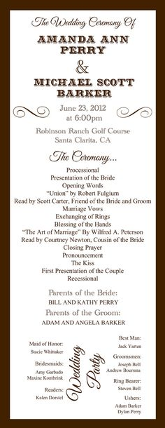 Custom Printable Wedding Programs Digital by StaceCadetDesigns, $28.00