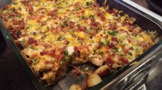 "Chicken Bacon Ranch Potato Bake! ""Absolutely delicous!!"" @allthecooks #recipe"