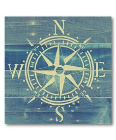 Look what I found on #zulily! Compass Rose Wrapped Canvas #zulilyfinds