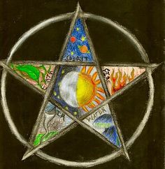Pentacle by bloody-morning-after on DeviantArt Wiccan Symbols, Spiritual Symbols, Symbols And Meanings, Wiccan Art, Tarot Meanings, Spiritual Meaning, Wiccan Witch, Occult Art, Color Meanings