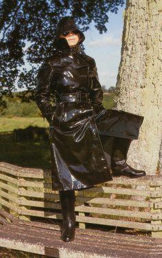 Rubber Raincoats, Macs, Raincoats For Women, Rain Wear, Black Rubber, Trench, Goth, Sunglasses, Projects