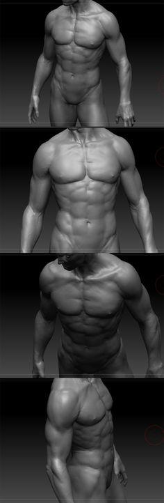 Human anatomy study_vray: Naver Blog