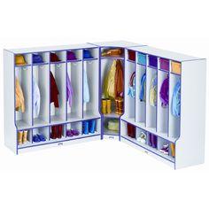 Jonti-Craft 1 Tier 1-Section Corner Coat Locker Step 6686JCWW, #Jonti-Craft_Step_6686JCWW