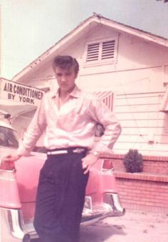 On this day 1956, Elvis Presley surprised his mother with a gift of a pink Cadillac. The car remained in the Presley family and eventually went on display at Graceland.