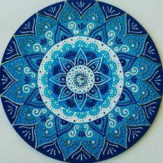 Mandala mdf 1° Raio Azul 30cm no Elo7 | Ateliê das Mandalas Portal dos Sóis (B92181)