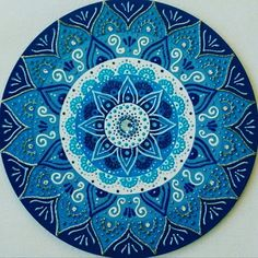 Mandala mdf 1° Raio Azul 30cm no Elo7 | Ateliê das Mandalas Portal dos Sóis (B92181) Mandala Art, Mandala Painting, Dot Painting, Mandala Design, Arte Mandela, Portal Do Sol, Wall Art, Clock Wall, Design Art