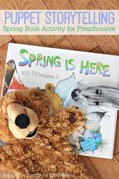 Retelling a Spring Book with Puppets. Spring is Here is the perfect book for acting out and retelling with your preschool or kindergarten kids at home or in the classroom! - Pre-K Pages