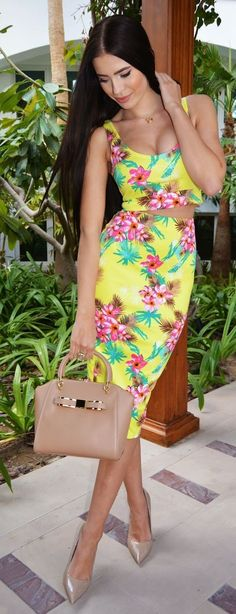 Tropical Suit Chic Style by Laura Badura Fashion #tropical